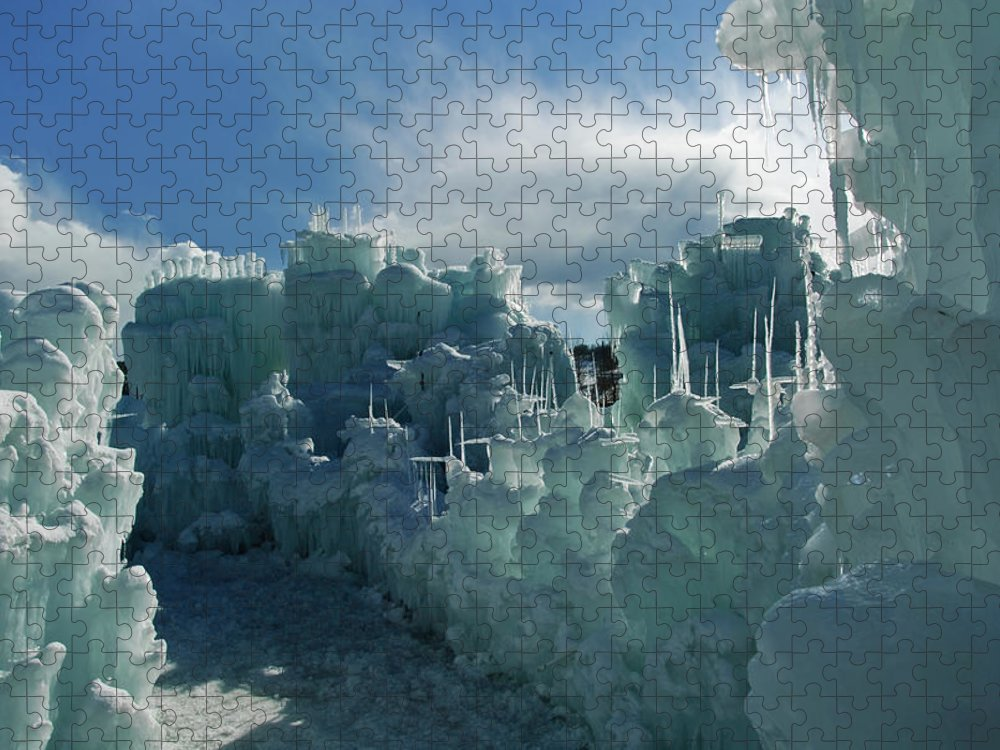 Iceberg Puzzle featuring the photograph Ice Castle by Robin Wilson Photography