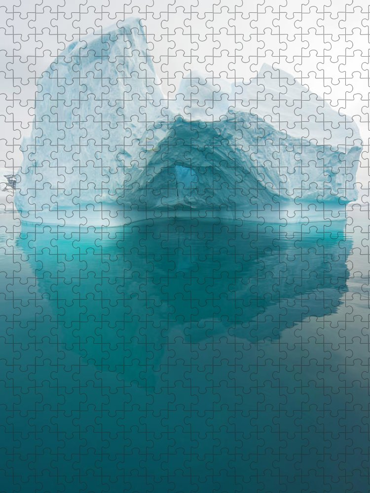 Iceberg Puzzle featuring the photograph Iceberg And Reflections, Antarctic by Eastcott Momatiuk