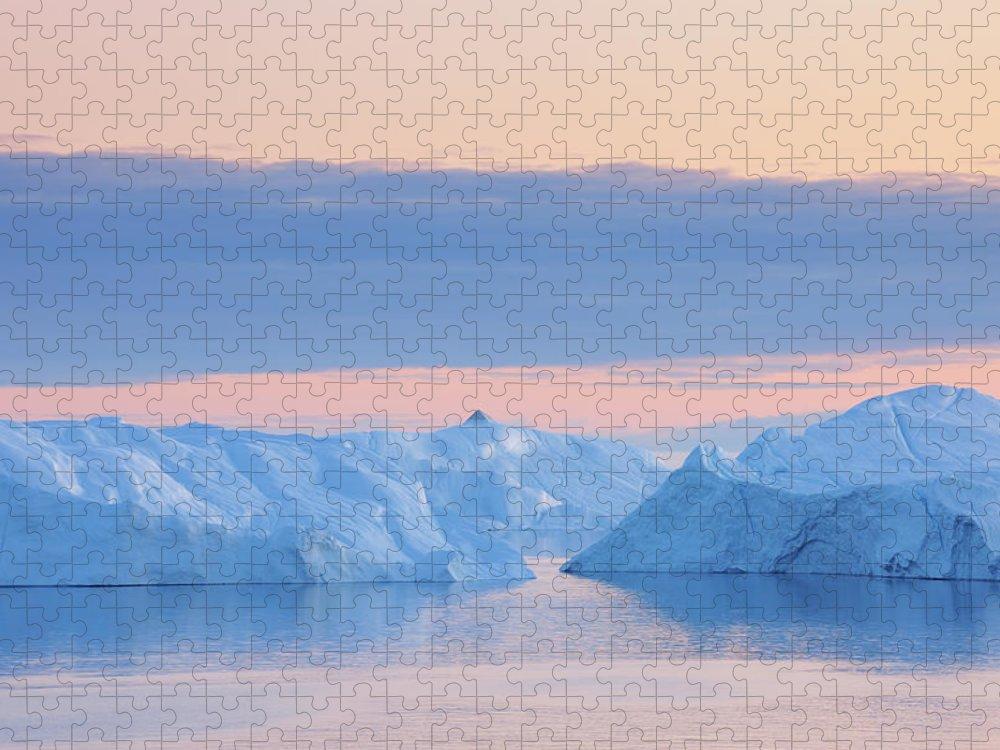 Iceberg Puzzle featuring the photograph Iceberg by Raimund Linke
