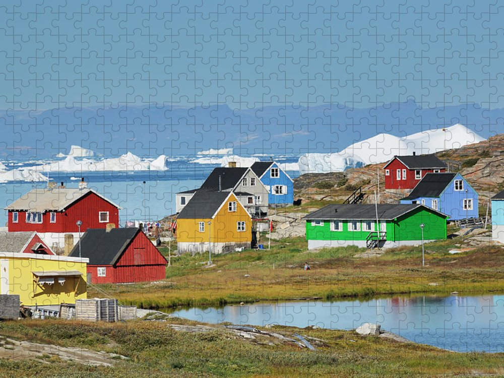 Ilulissat Icefjord Puzzle featuring the photograph Ilulissat by Cornelia Doerr
