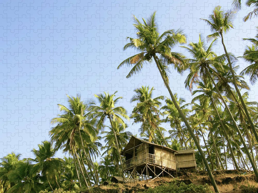 Scenics Puzzle featuring the photograph India, Goa, Beach Huts On Palolem by Sydney James