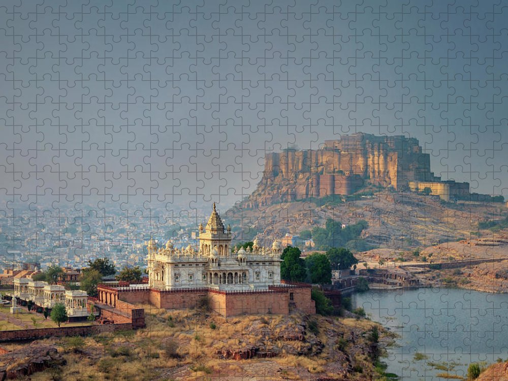 Hinduism Puzzle featuring the photograph India, Jodhpure, Mehrangarh Historic by Michele Falzone