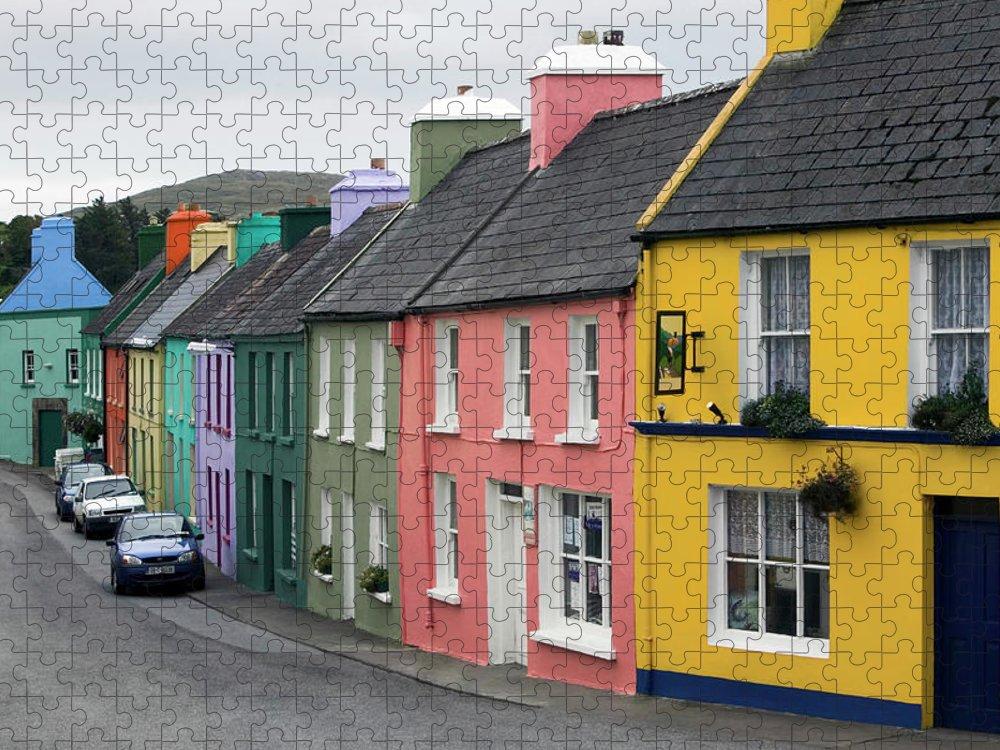 Row House Puzzle featuring the photograph Ireland, County Cork, Beara Peninsula by Glen Allison