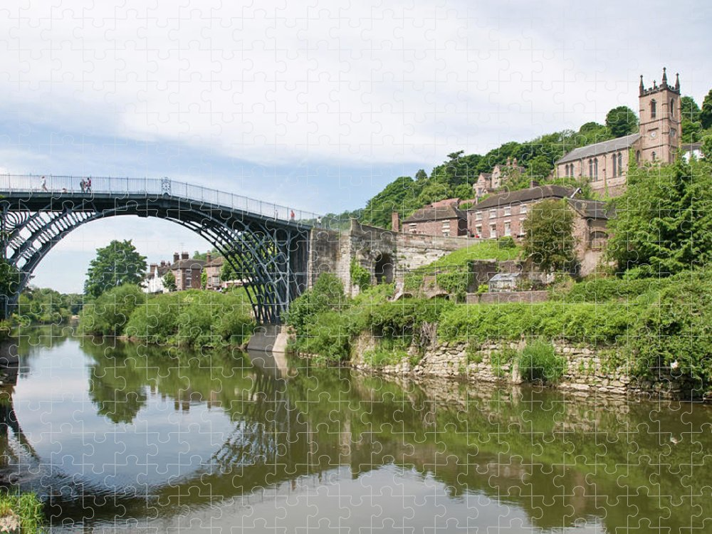 Arch Puzzle featuring the photograph Ironbridge In Telford by Dageldog