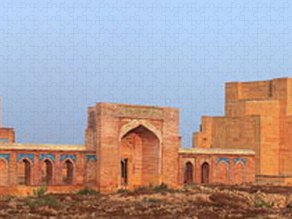Tranquility Puzzle featuring the photograph Isa Khan Tombs Of Makli by Nadeem Khawar