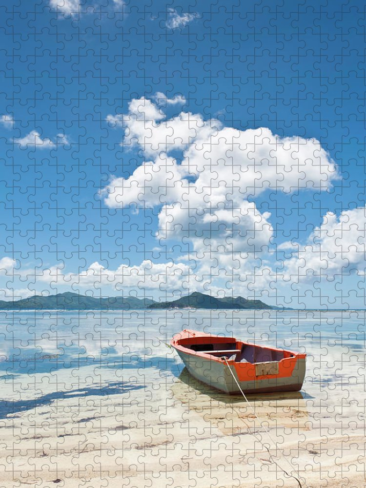 Water's Edge Puzzle featuring the photograph Island Beach Tropical Shore Colorful by Fotovoyager