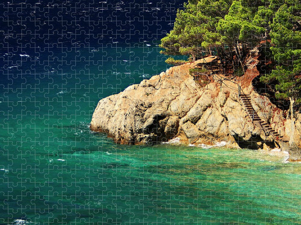 Steps Puzzle featuring the photograph Island In The Adriatic by Tozofoto