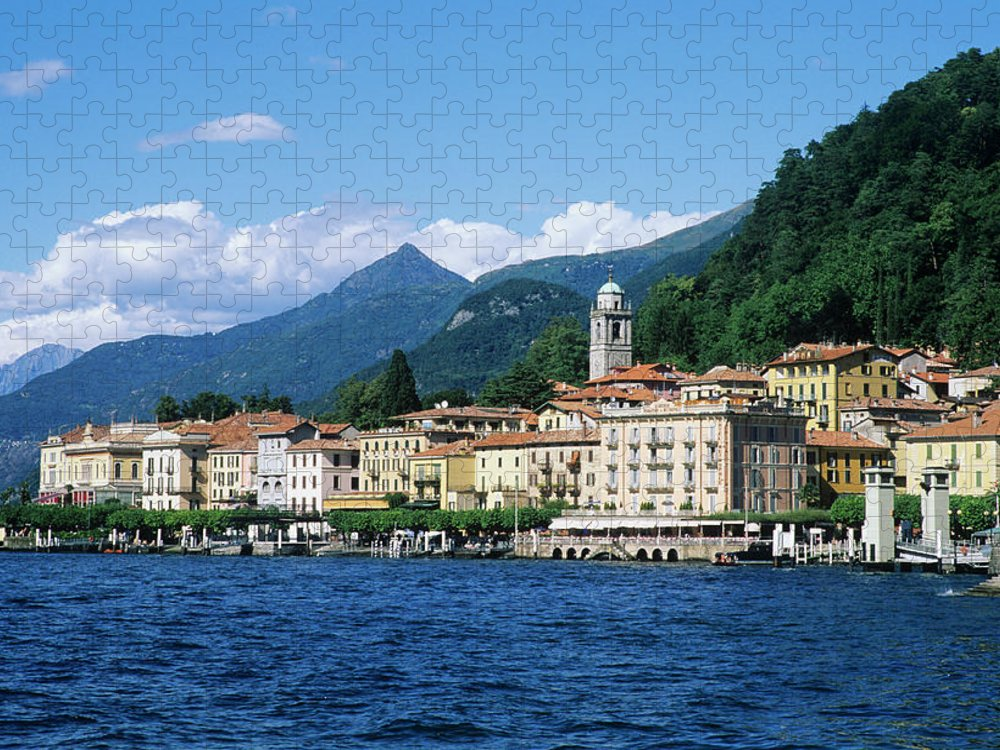 Scenics Puzzle featuring the photograph Italy, Lombardy, Bellagio by Vincenzo Lombardo