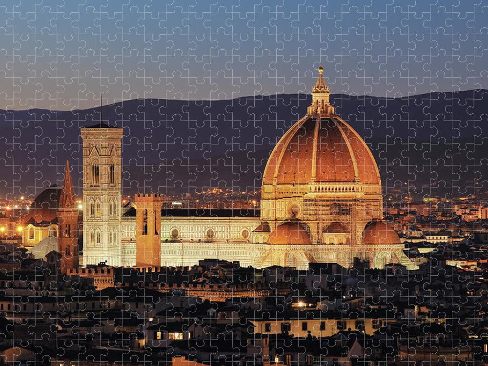 Unesco Puzzle featuring the photograph Italy, Tuscany, Florence, Palazzo by Westend61