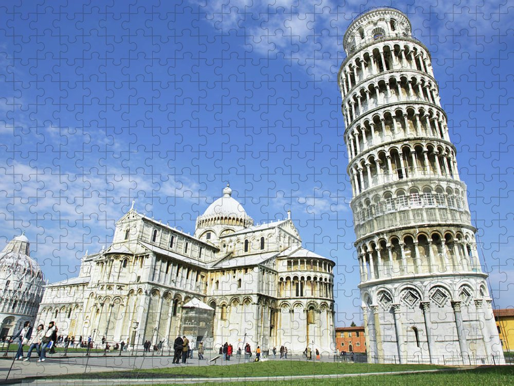 City Puzzle featuring the photograph Italy, Tuscany, Leaning Tower Of Pisa by Alexander Hassenstein