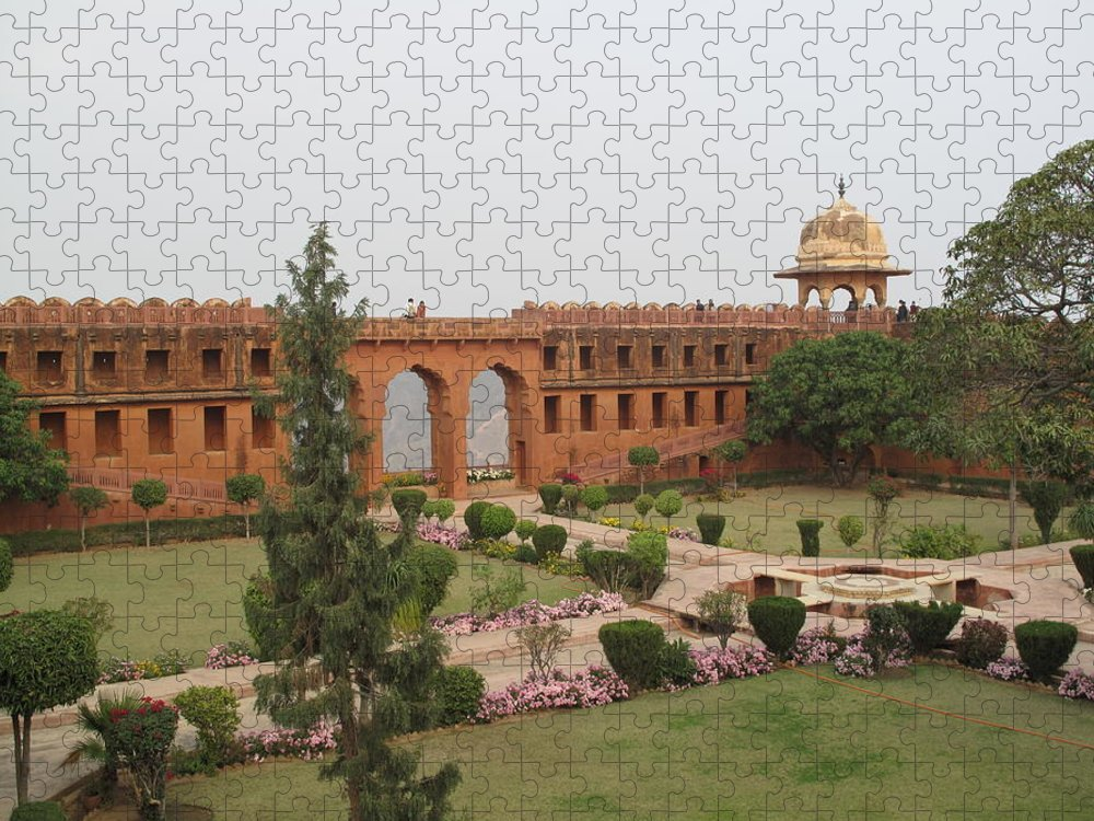 Arch Puzzle featuring the photograph Jaigarh Fort, Amer, Jaipur, Rajasthan by Marianna Sulic