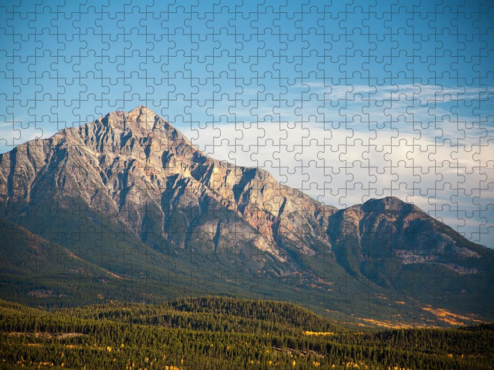 Scenics Puzzle featuring the photograph Jasper Valley by Abishome
