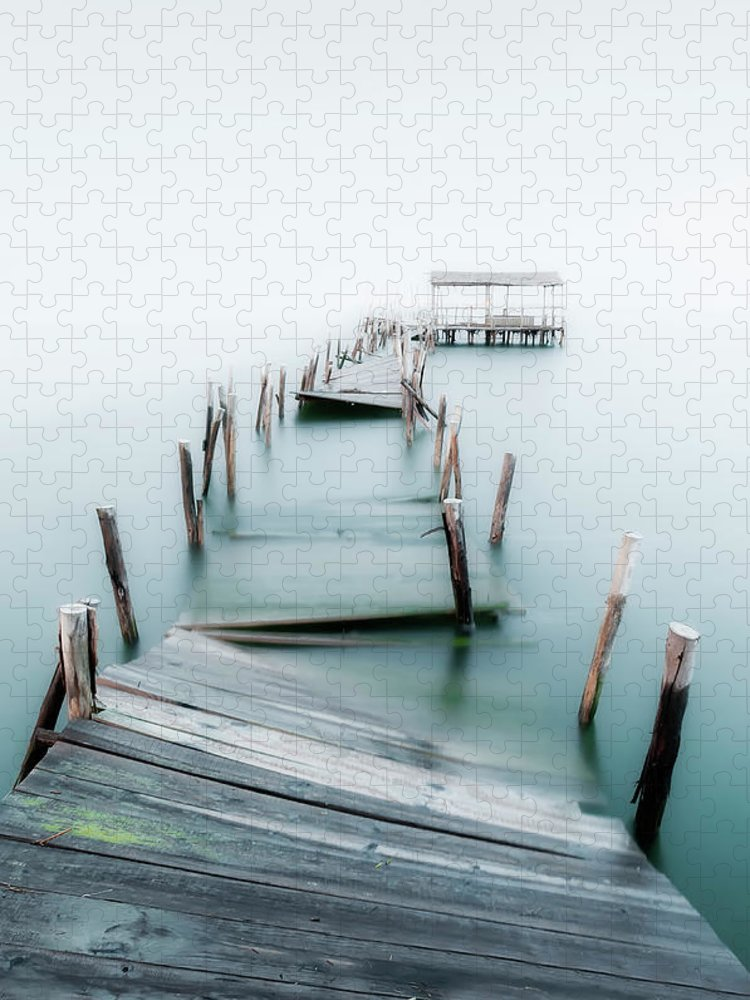 The End Puzzle featuring the photograph Jetty by Lt Photo