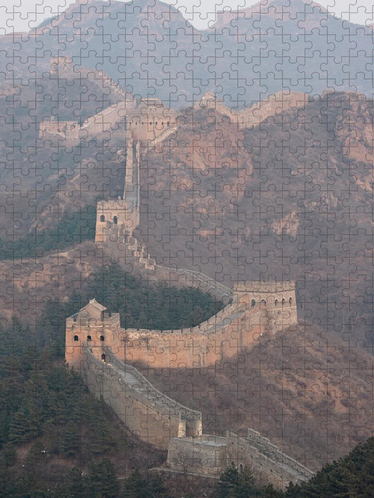 Chinese Culture Puzzle featuring the photograph Jinshanling Section, Great Wall Of China by Thomas Kokta