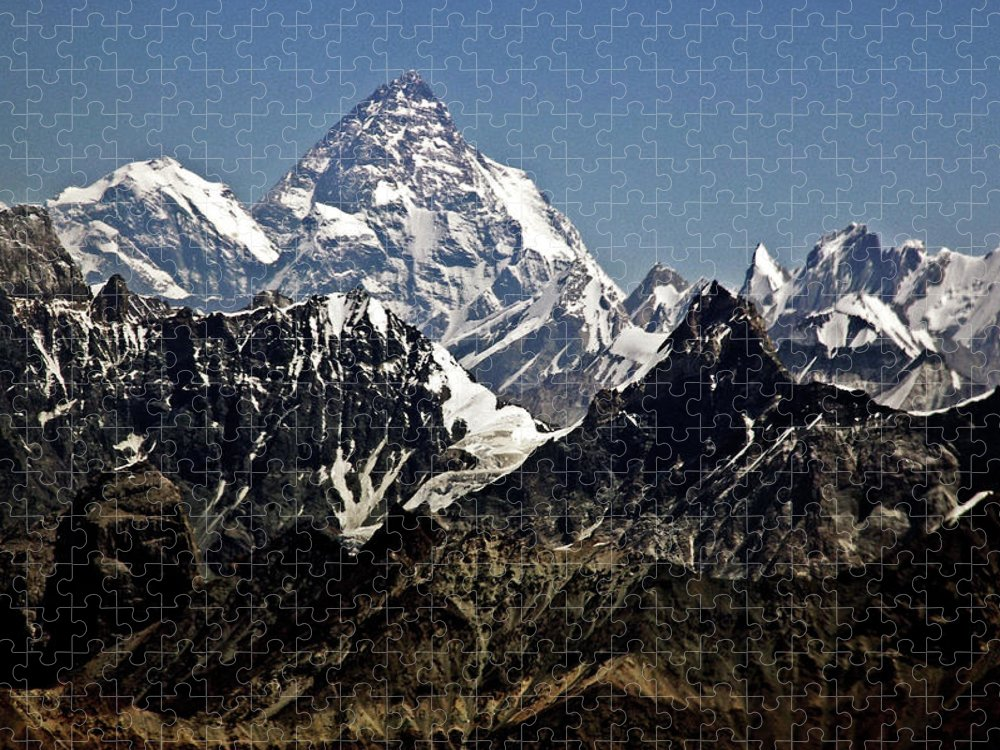 Tranquility Puzzle featuring the photograph K2 Mountain by Sylwia Duda