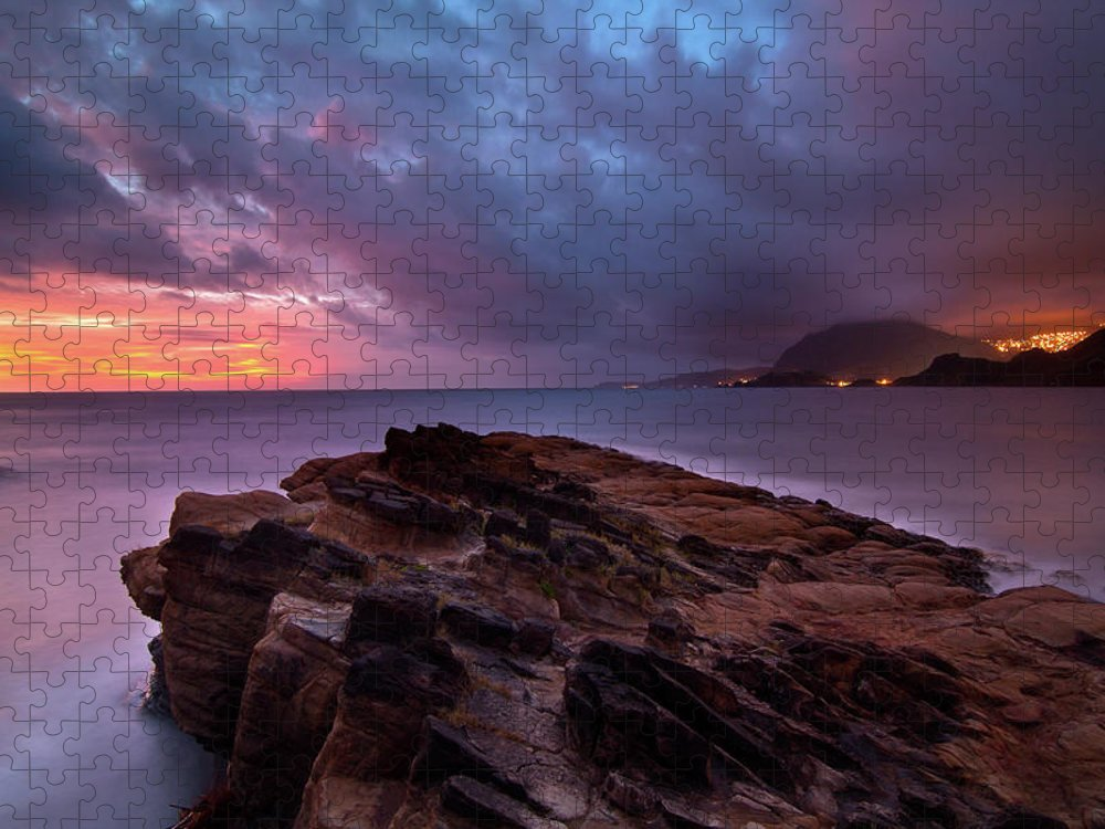 Scenics Puzzle featuring the photograph Keelung, Taiwan by Chia-hsing Wu