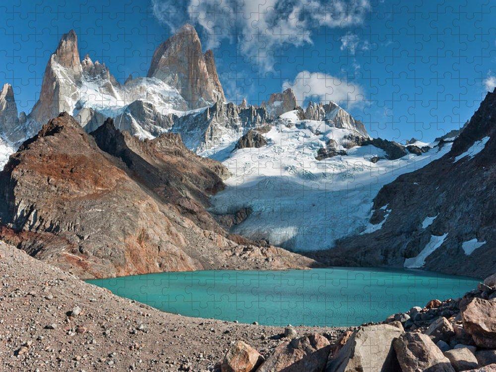Scenics Puzzle featuring the photograph Laguna De Los Tres, El Chalten by Avinash Achar