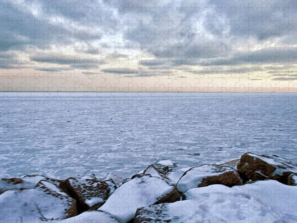 Tranquility Puzzle featuring the photograph Lake Michigan by By Ken Ilio