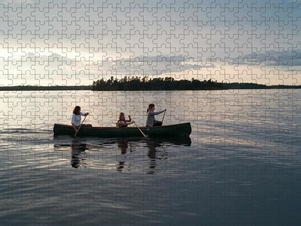 Tranquility Puzzle featuring the photograph Lake Of The Woods, Ontario, Canada by Design Pics/keith Levit
