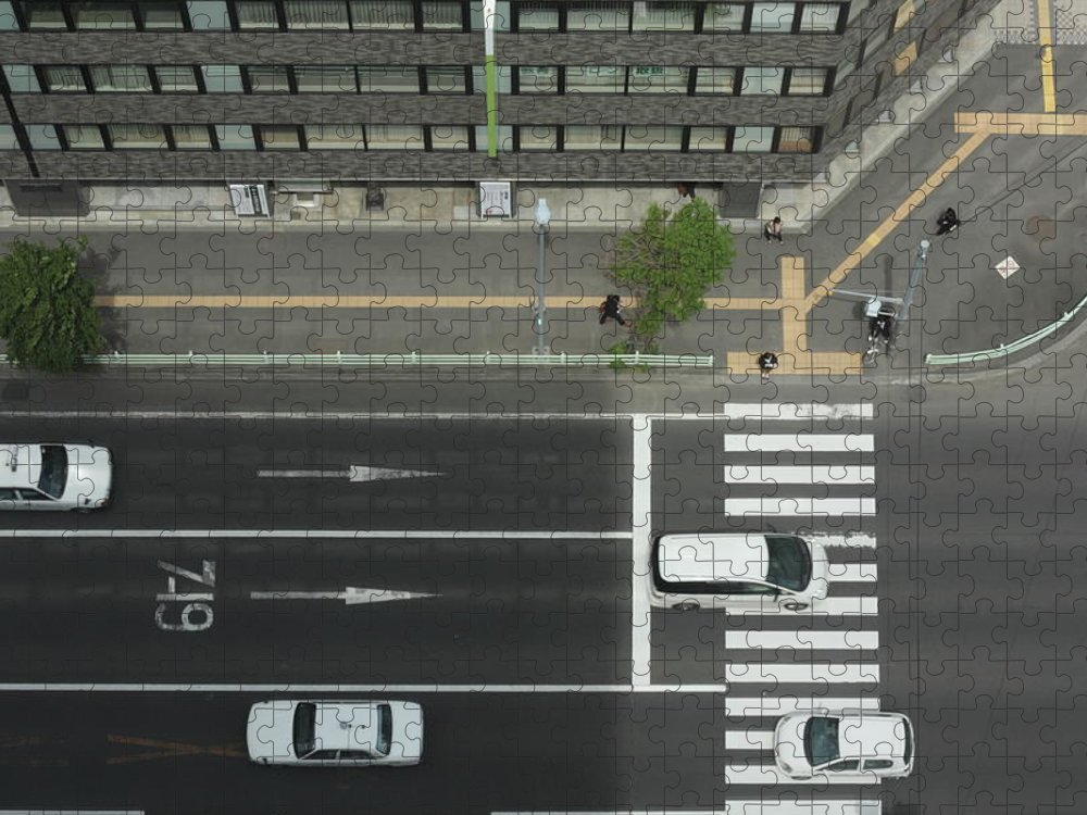 Hokkaido Puzzle featuring the photograph Land Vehicles Crossing Pedestrian by Iyoupapa