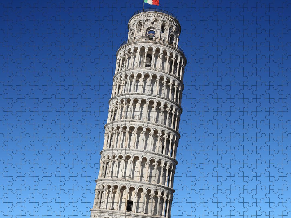 Leaning Puzzle featuring the photograph Leaning Tower Of Pisa by Narvikk