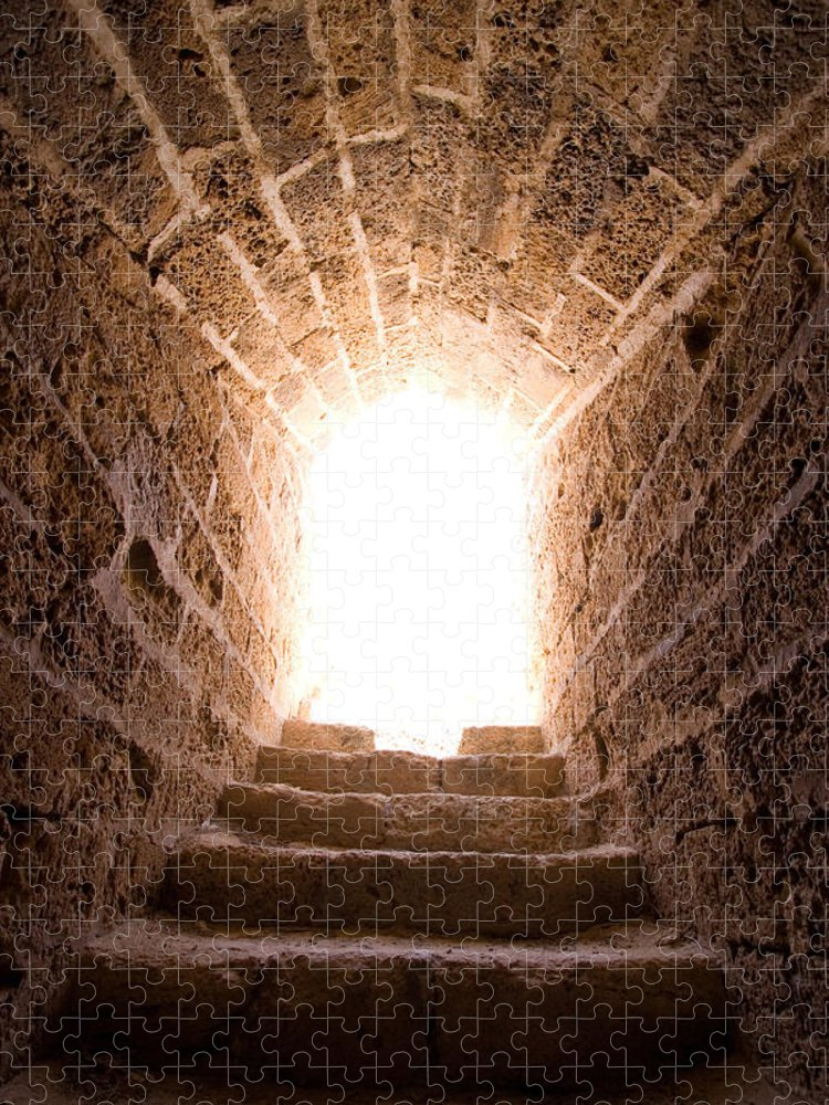 Steps Puzzle featuring the photograph Light At End Of The Tunnel by Kreicher