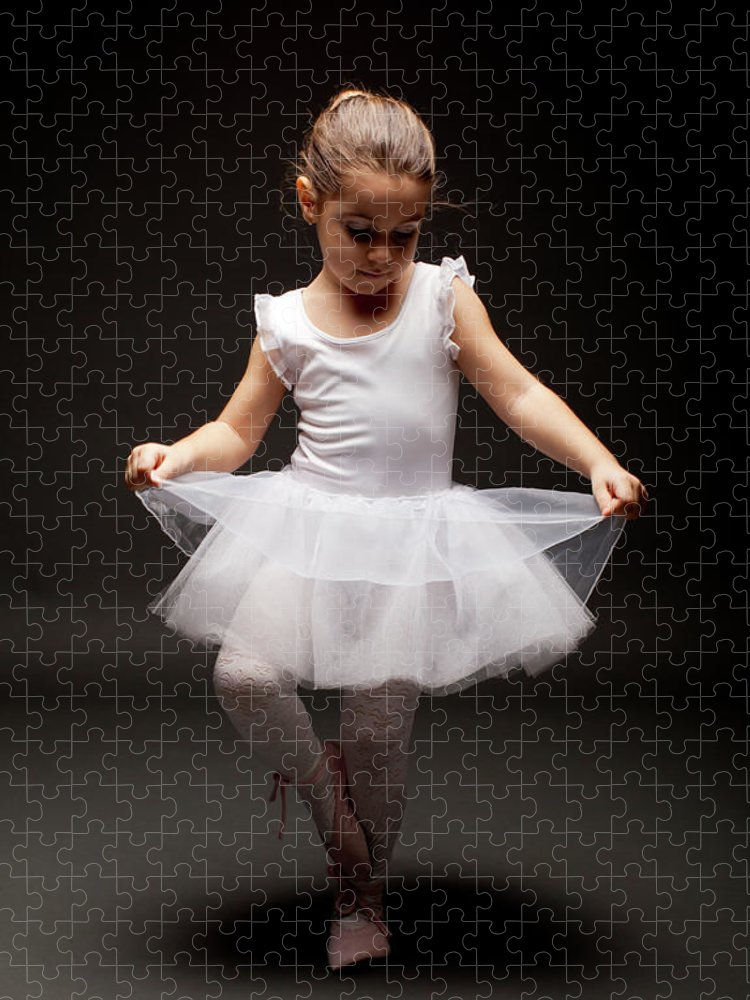 Toddler Puzzle featuring the photograph Little Ballerina by Georgijevic