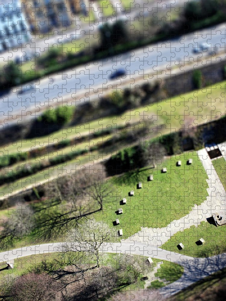 England Puzzle featuring the photograph Liverpool From Above, Tilt-shift Lens by Ilbusca