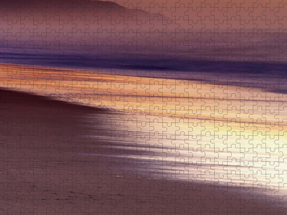 Tranquility Puzzle featuring the photograph Long Exposure Of Water At Dawn With by Emil Von Maltitz