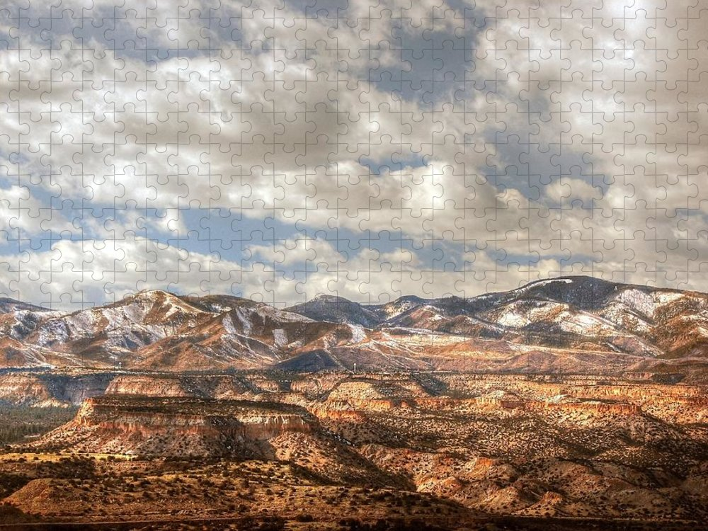 Tranquility Puzzle featuring the photograph Los Alamos From Buckman Mesa by Rovingmagpie@flickr.com