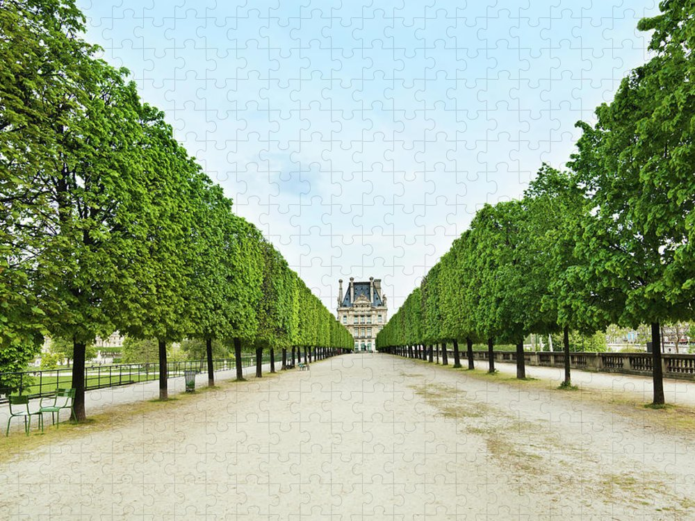 Scenics Puzzle featuring the photograph Louvre In Paris by Nikada