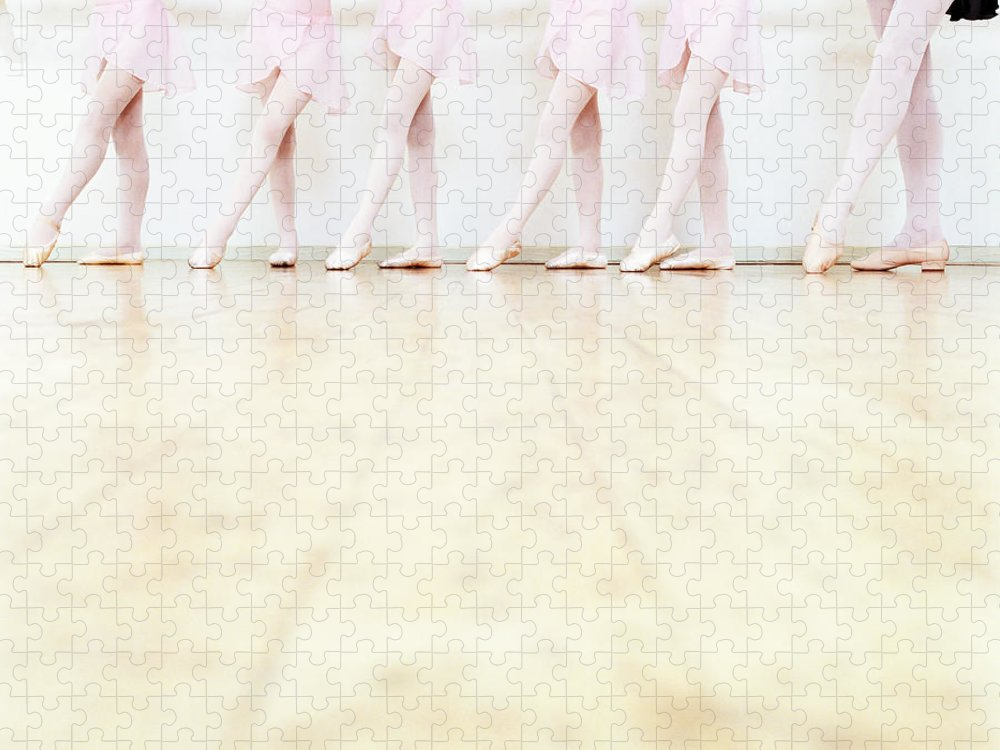 Ballet Dancer Puzzle featuring the photograph Low Section View Of A Line Of Young by Digital Vision.