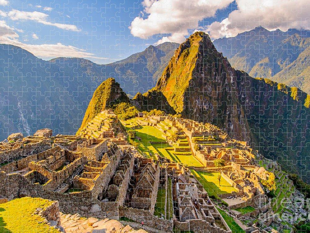Civilization Puzzle featuring the photograph Machu Picchu Peru Southa America by Anton ivanov