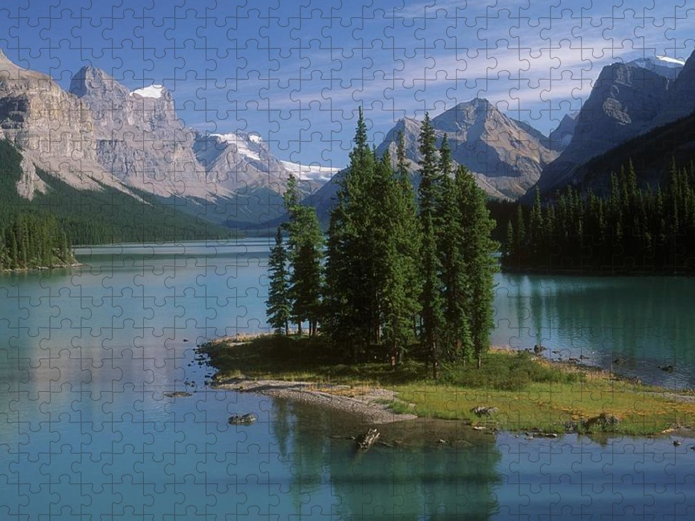 Tranquility Puzzle featuring the photograph Maligne Lake, Jasper National Park by Design Pics/bilderbuch