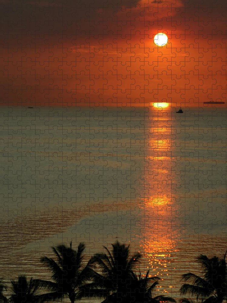 East Puzzle featuring the photograph Manila Bay Sunset by Vanwyckexpress