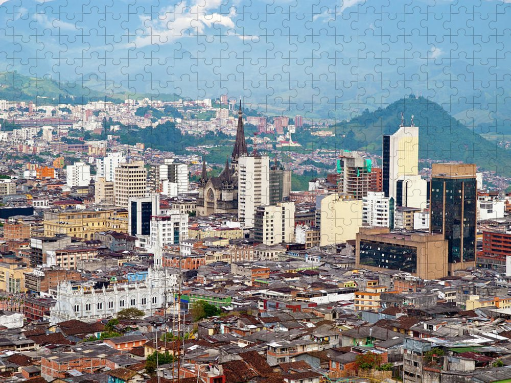 Built Structure Puzzle featuring the photograph Manizales City View, Colombia by Holgs