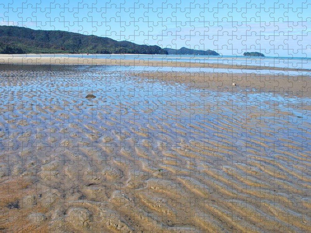 Scenics Puzzle featuring the photograph Marahau Beach, The Abel Tasman National by Lazingbee