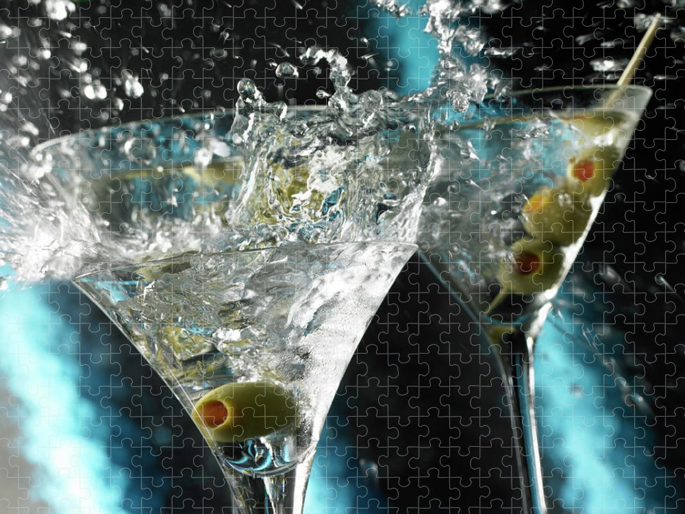 Alcohol Puzzle featuring the photograph Martini Wild Splash by Triton21