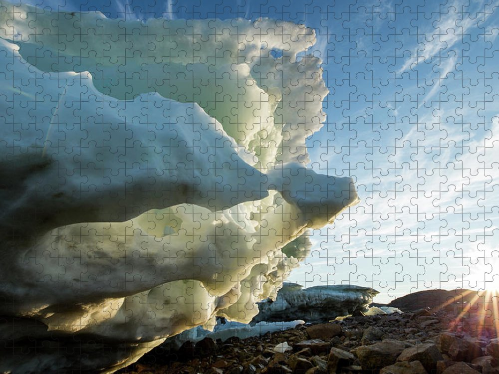 Scenics Puzzle featuring the photograph Melting Iceberg, Nunavut Territory by Paul Souders