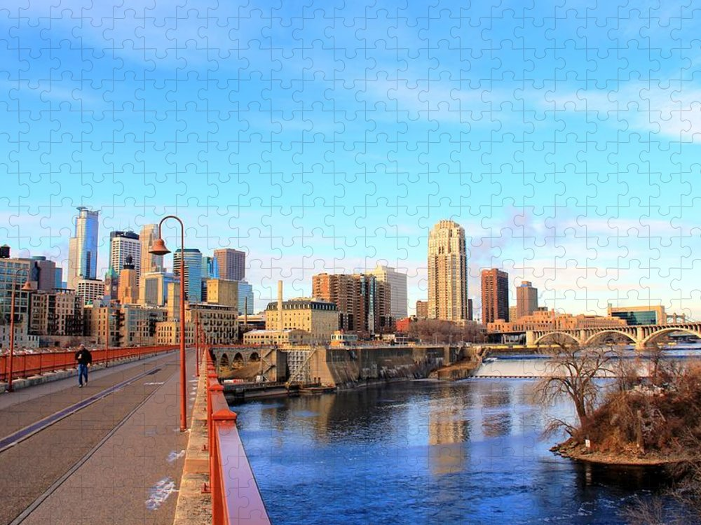 Downtown District Puzzle featuring the photograph Minneapolis Downtown by J.castro