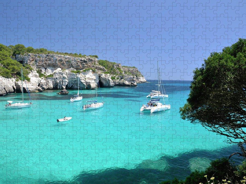 Scenics Puzzle featuring the photograph Minorca, Cala Macarella by Stefano Salvetti