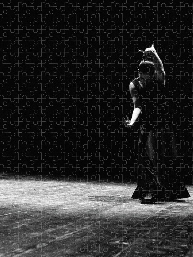 Ballet Dancer Puzzle featuring the photograph Modern Flamenco by T-immagini