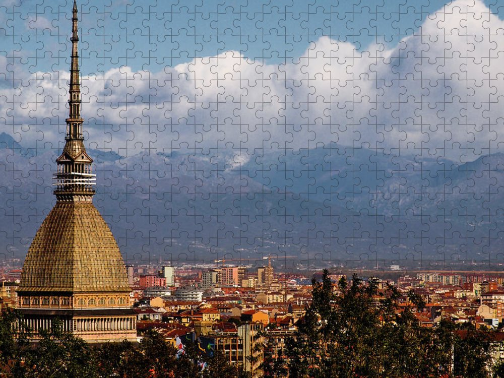Built Structure Puzzle featuring the photograph Mole Antonelliana, Torino And Alps by Rodolfo Rodríguez Castro