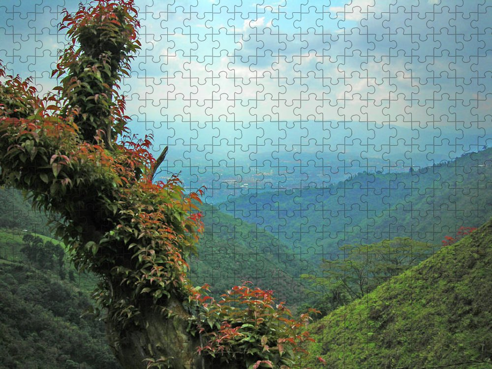Scenics Puzzle featuring the photograph Montains Colombia by Fred Fraces