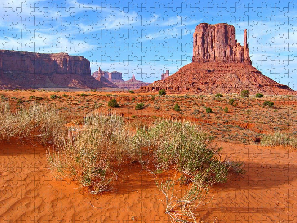 Tranquility Puzzle featuring the photograph Monument Valley Landscape by Sandra Leidholdt