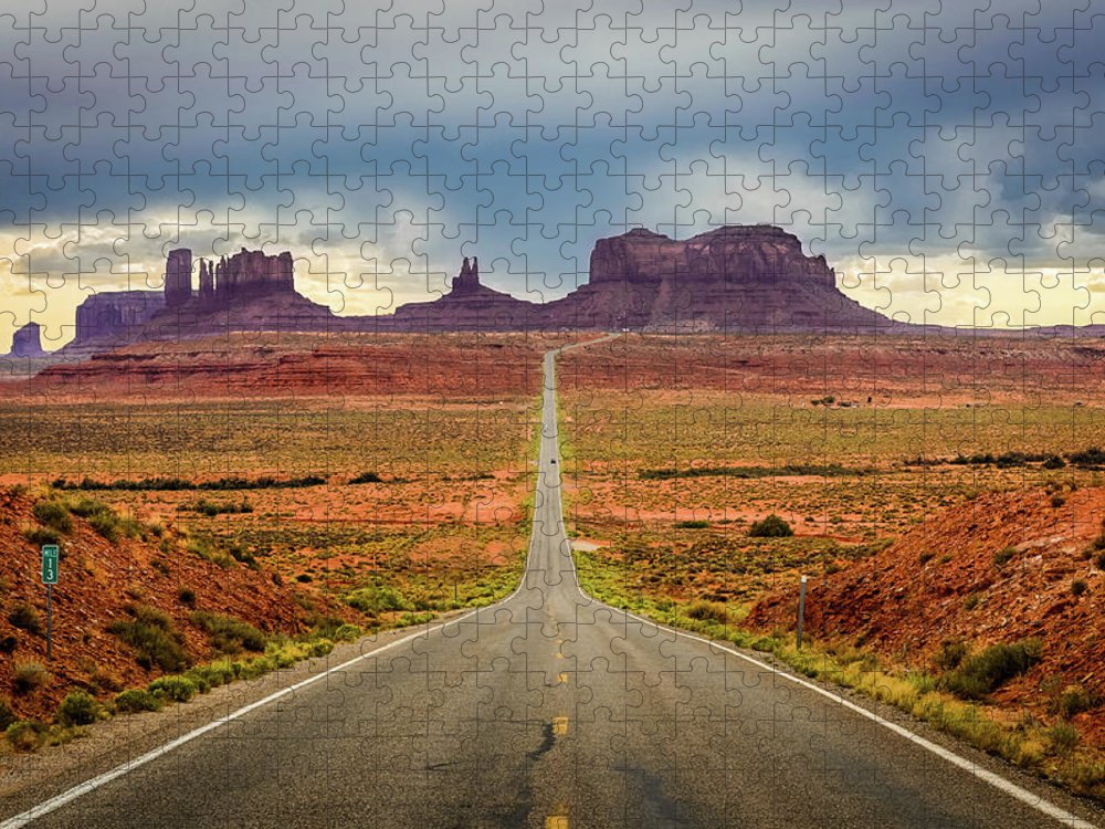 Scenics Puzzle featuring the photograph Monument Valley by Posnov
