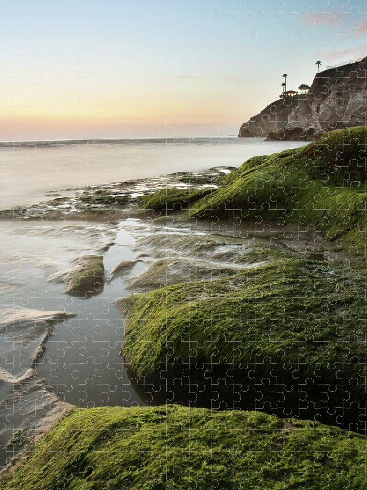 Pismo Beach Puzzle featuring the photograph Mossy Rocks At Pismo Beach by Kevinruss