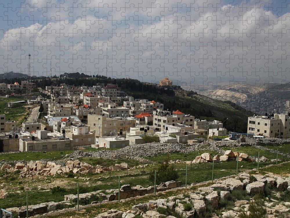 Tranquility Puzzle featuring the photograph Mount Gerizim, Samaritan Community by Gunter Hartnagel