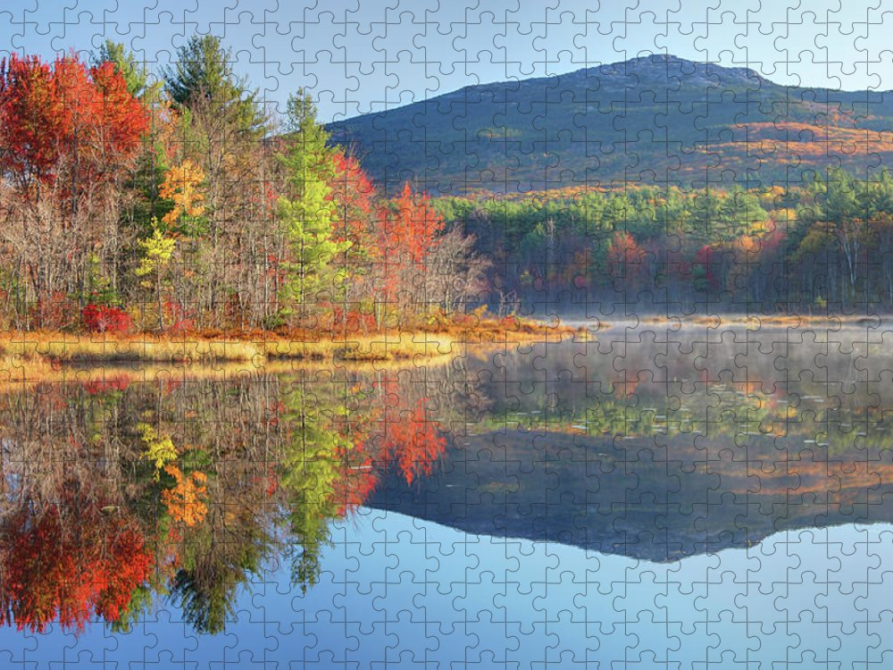 Scenics Puzzle featuring the photograph Mount Monadnock In Autumn by Denistangneyjr