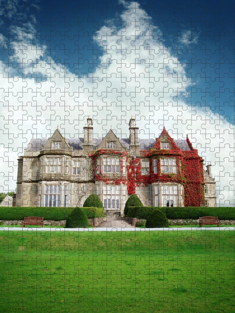 Grass Puzzle featuring the photograph Muckross House by Narvikk